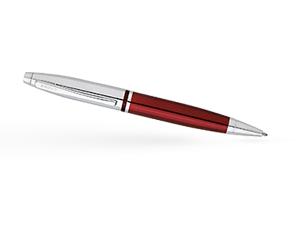 Шариковая ручка Cross Красный лак, хромирование, поворотный механизм, пи  AT0112-8