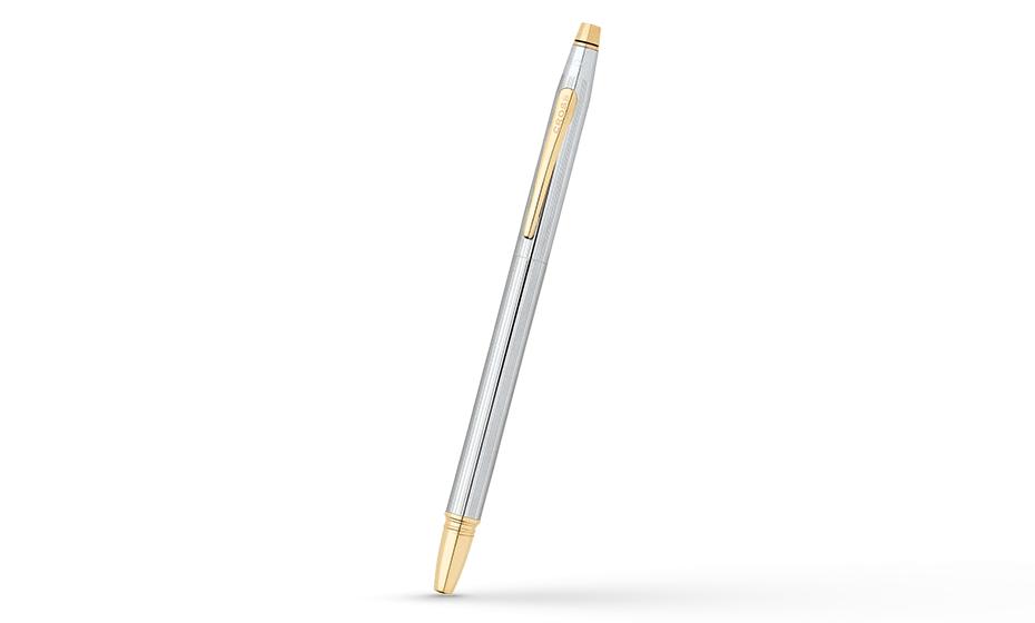 Перьевая ручка Cross Ювелирная латунь, хромирование, позолота 23К, перо  AT0086-75MF