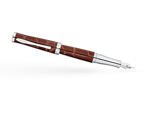 Перьевая ручка Cross Sauvage, латунь, хромирование, лак, гравировка, съ  AT0316-4FD