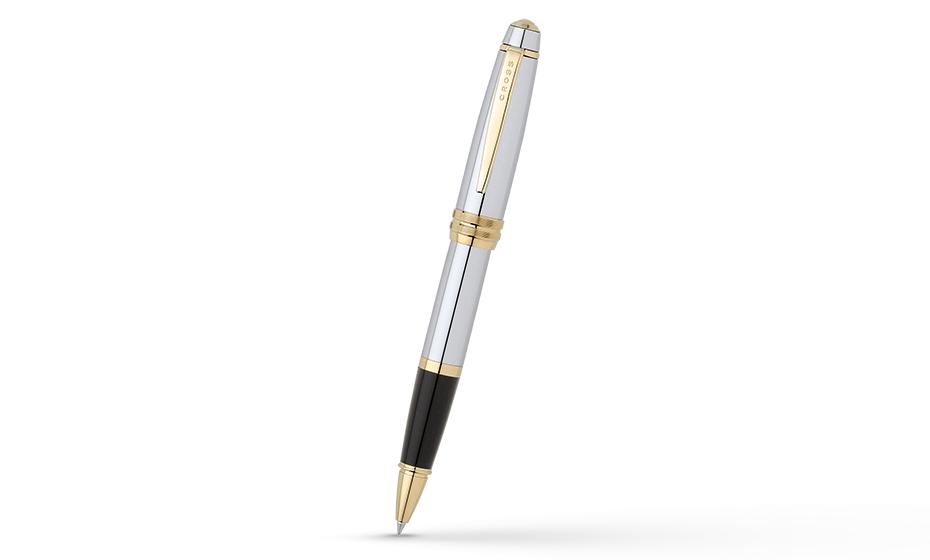 Чернильная ручка Cross Cross Bailey, латунь, позолота 23К, съемный колпач  AT0455-6