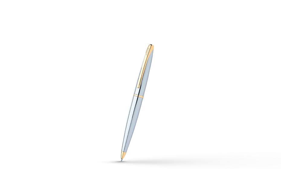 Шариковая ручка Cross Хромирование, позолота 23К, поворотный механизм, с  882-10