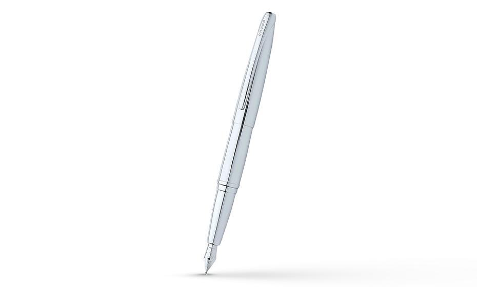 Перьевая ручка Cross Хромирование, перо F из нержавеющей стали, 2 картр  886-2FS
