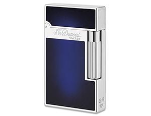 Зажигалка S.T. Dupont Atelier, натуральный темно-синий лак, палладий  16301