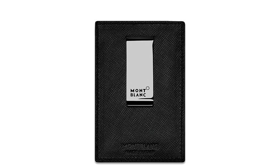 Чехол для кредитных карт Montblanc Montblanc, кожа с тиснением, палладиевое покрытие,  113643