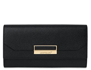 Бумажник Montblanc Sartorial Saffiano Long Leather Wallet, кожа с тис  114597
