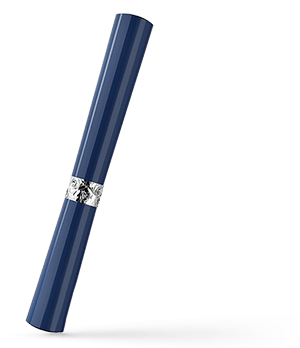Чернильная ручка KIT Губная Помада, акрил, серебро, синяя  R017107