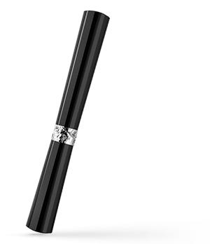Чернильная ручка KIT Губная помада, акрил, фианит, черная  R017101