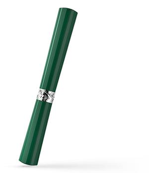 Чернильная ручка KIT Губная помада, акрил, хром, серебро, зеленая  R017106