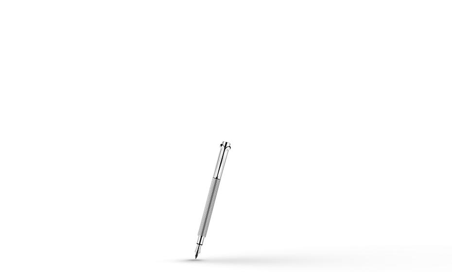 Перьевая ручка KIT Серебро, насечка, пишущий узел F, родиевое покрыти  F004100