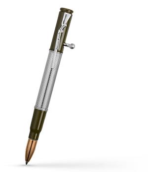 Шариковая ручка KIT Дробовик, настоящая гильза, серебро  R014100