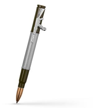Шариковая ручка KIT Серебро, белый акрил, родиевое покрытие  R013100