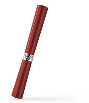 Чернильная ручка KIT Губная помада, акрил, серебро, красная  R017103