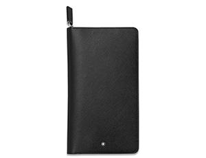 Бумажник Montblanc Montblanc Sartorial, дорожный, кожа, черный  113208