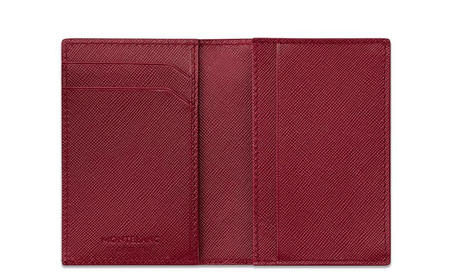 Визитница Montblanc Sartorial, кожа с тиснением Saffiano, красная  115848