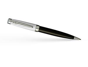 Шариковая ручка Pierre Cardin Luxor, латунь, лак, хром, черно-белая  PC1086BP-WB