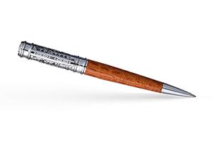Шариковая ручка Pierre Cardin Leather, латунь, никель, коричневый  PC2003BP