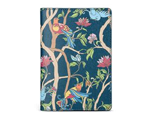 Обложка для паспорта Avanzo Daziaro Сафьяно, кожа, птицы на сине-зеленом  AD-019-1019EG12'
