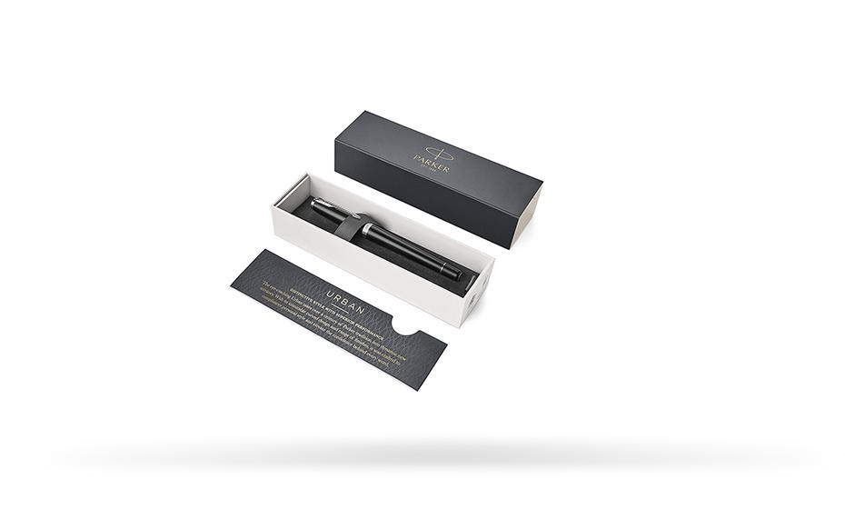 Перьевая ручка Parker Urban, лак матовый, нержавеющая сталь, черная  1931592 351179315928