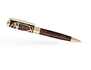 Шариковая ручка S.T. Dupont LINE D PRESTIGE Витрувианский человек, лак, позоло  415037