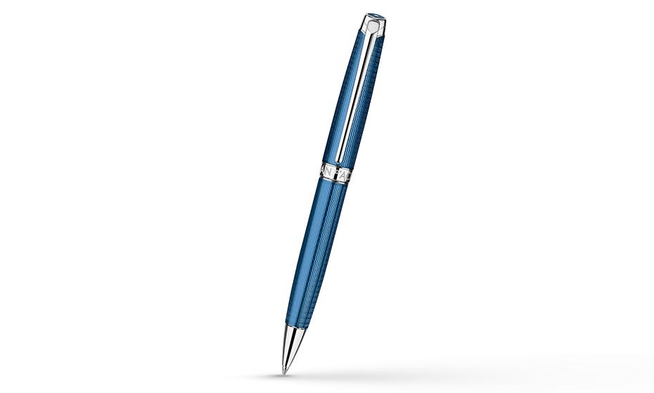 Шариковая ручка Caran d'Ache Caran dAche Leman Grand Bleu, латунь, гарвировка,  4789-168