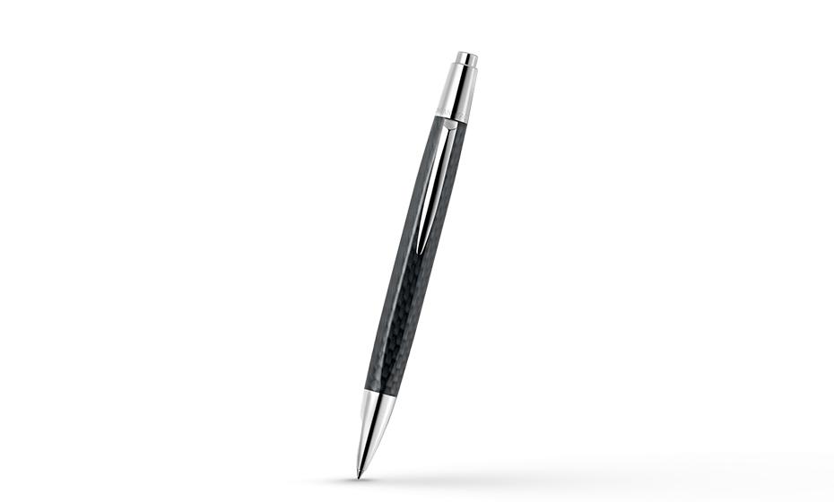 Шариковая ручка Caran d'Ache Caran d'Ache Office Alchemix Carbon, хром, покрыти  4880-496
