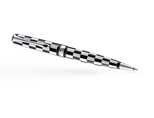 Шариковая ручка Diplomat EXCELLENCE A ROME BLACK WHITE, лак, черно-белая  D20000735