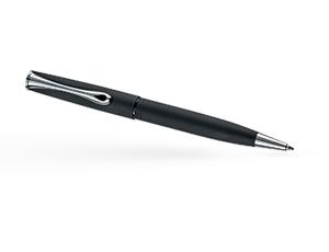 Шариковая ручка Diplomat Esteem Lapis, матовый лак, металл, хром, черная  D10425650