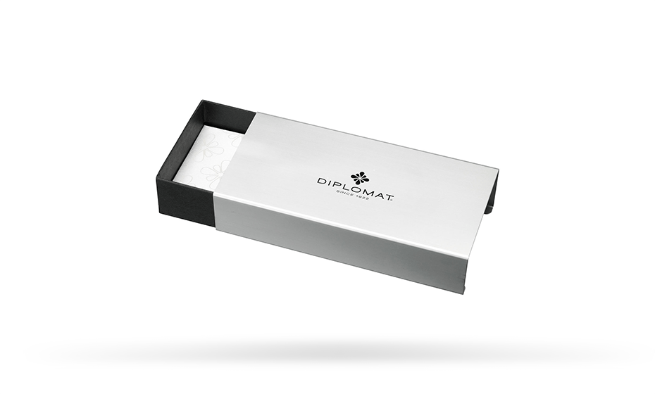 Шариковая ручка Diplomat Traveller, сталь, позолота  D10061109