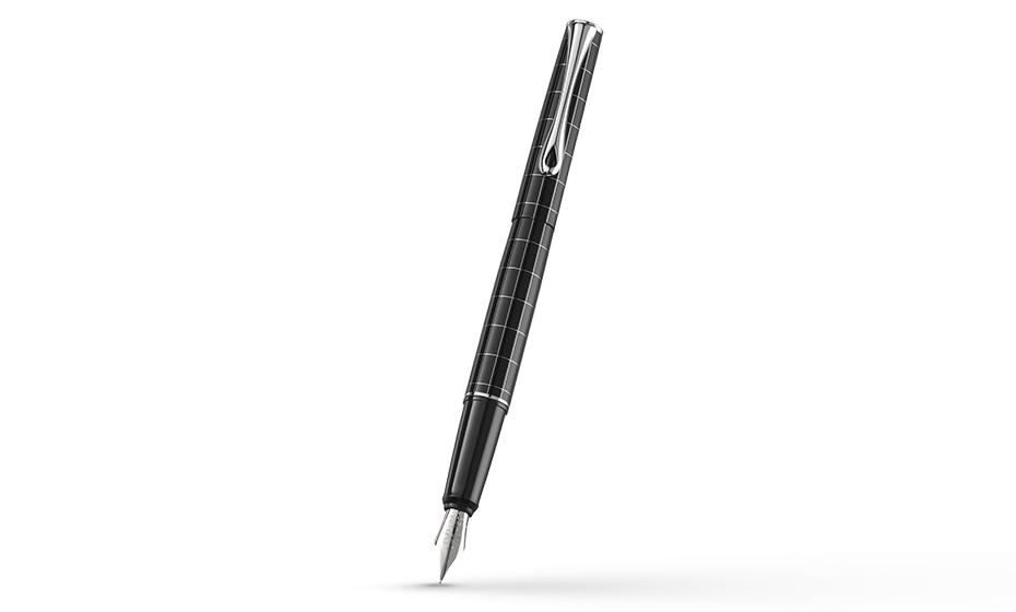 Перьевая ручка Diplomat Optimist RHOMB, узор, стальное перо М, глянцевый л  D20000208