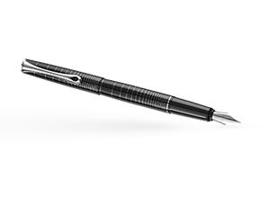 Перьевая ручка Diplomat OPTIMIST RING, узор кольца, стальное перо М, метал  D20000210