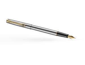 Перьевая ручка Diplomat Traveller, сталь, позолота  D10057453
