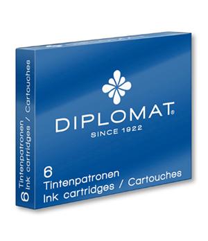 Картриджи Diplomat Diplomat, синие, 6 штук  D10275212