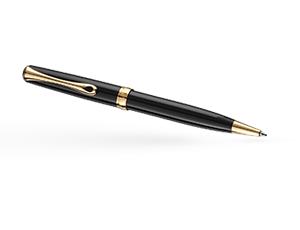 Шариковая ручка Diplomat Excellence, лак, черная, позолота  D10070662