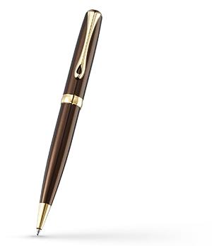 Шариковая ручка Diplomat Excellence A MARRAKESH GOLD, лак, позолота, коричн  D20000684