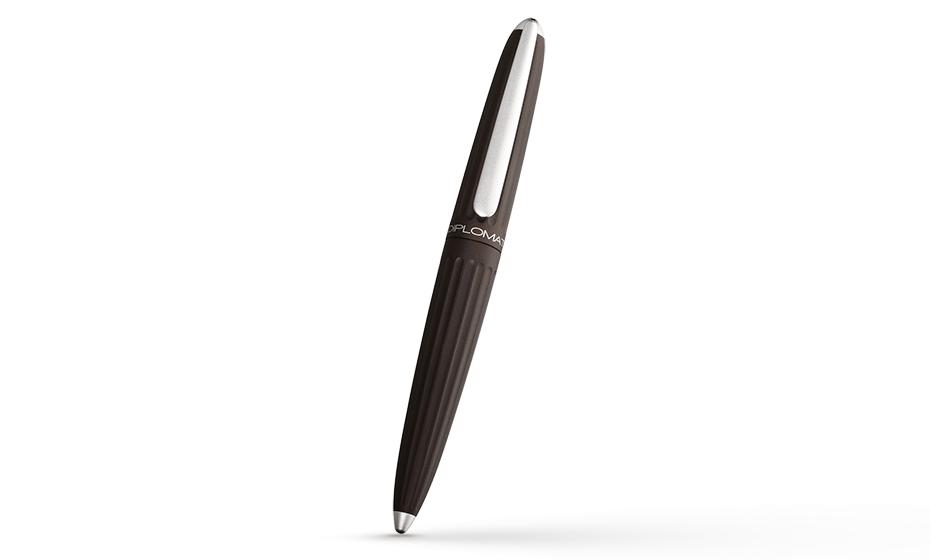 Чернильная ручка Diplomat Aero brown, анодированный алюминий, коричневая  D20000859
