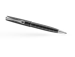 Шариковая ручка Diplomat OPTIMIST RHOMB, узор, глянцевый лак, металл, черна  D20000209