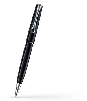 Шариковая ручка Diplomat ESTEEM, нажимной механизм, металл, лак, черная  D10424661