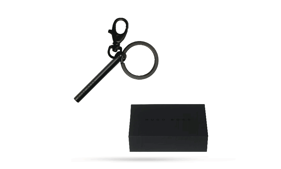 Брелок Hugo Boss «Essential», латунь, черный  HAK746A