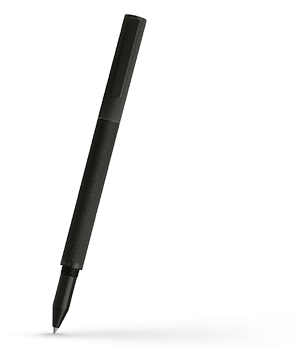 Чернильная ручка Hugo Boss Fineline, латунь, лак, черный  HSW7425