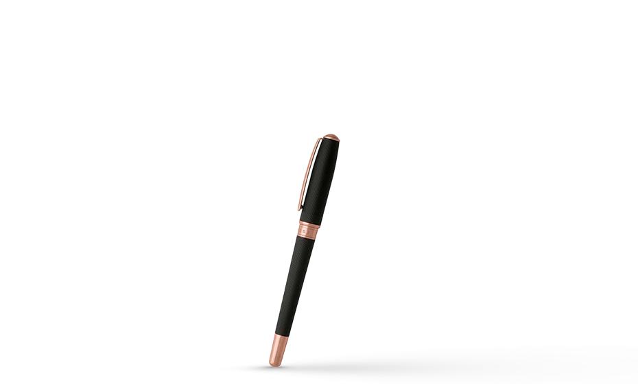 Чернильная ручка Hugo Boss Essential, латунь, розовая позолота, черный  HSW7445E HSW7445E