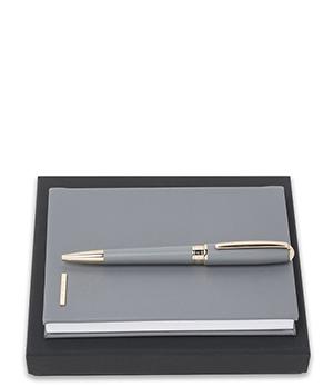 Набор Hugo Boss Hugo Boss, записаня книжка, шариковая ручка, серый  HPBM707J