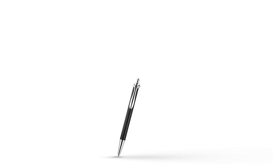 Шариковая ручка KIT Kit City, серебро, черная  R005101