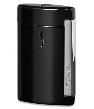 Зажигалка S.T. Dupont MiniJet, турбо-пламя, хром, черная  10501