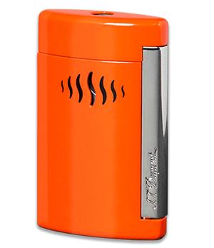 Зажигалка S.T. Dupont Minijet, турбо-пламя, хром, оранжевая  10509