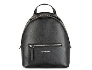 Рюкзак Avanzo Daziaro SAFFIANO, малый, кожа, черный  AD-019-104101'