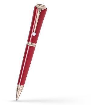 Шариковая ручка Montblanc Muses Marilyn Monroe, смола, жемчужина, красная  116068