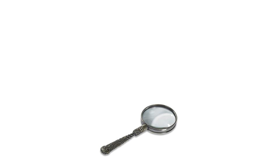 Лупа Authentic Models ROCOCO, белая бронза, 5-кратное увеличение  AC113