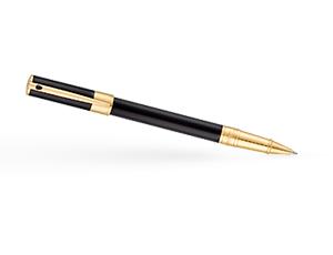 Чернильная ручка S.T. Dupont D-Initial, позолота, черный лак  262202