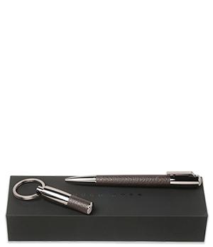 Набор Hugo Boss Hugo Boss Pure Leather, брелок+ручка, легированная  HPBK604Y