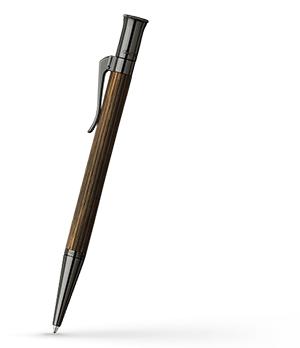 Шариковая ручка Graf von Faber-Castell Classic Makassar, латунь, дерево Макасар, коричнев  145536